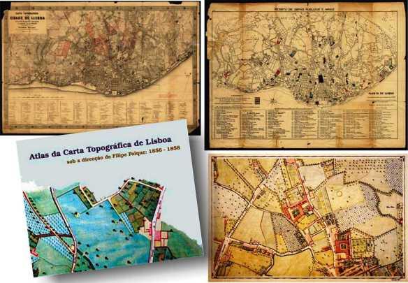 Filipe folque atlas da carta de Lx